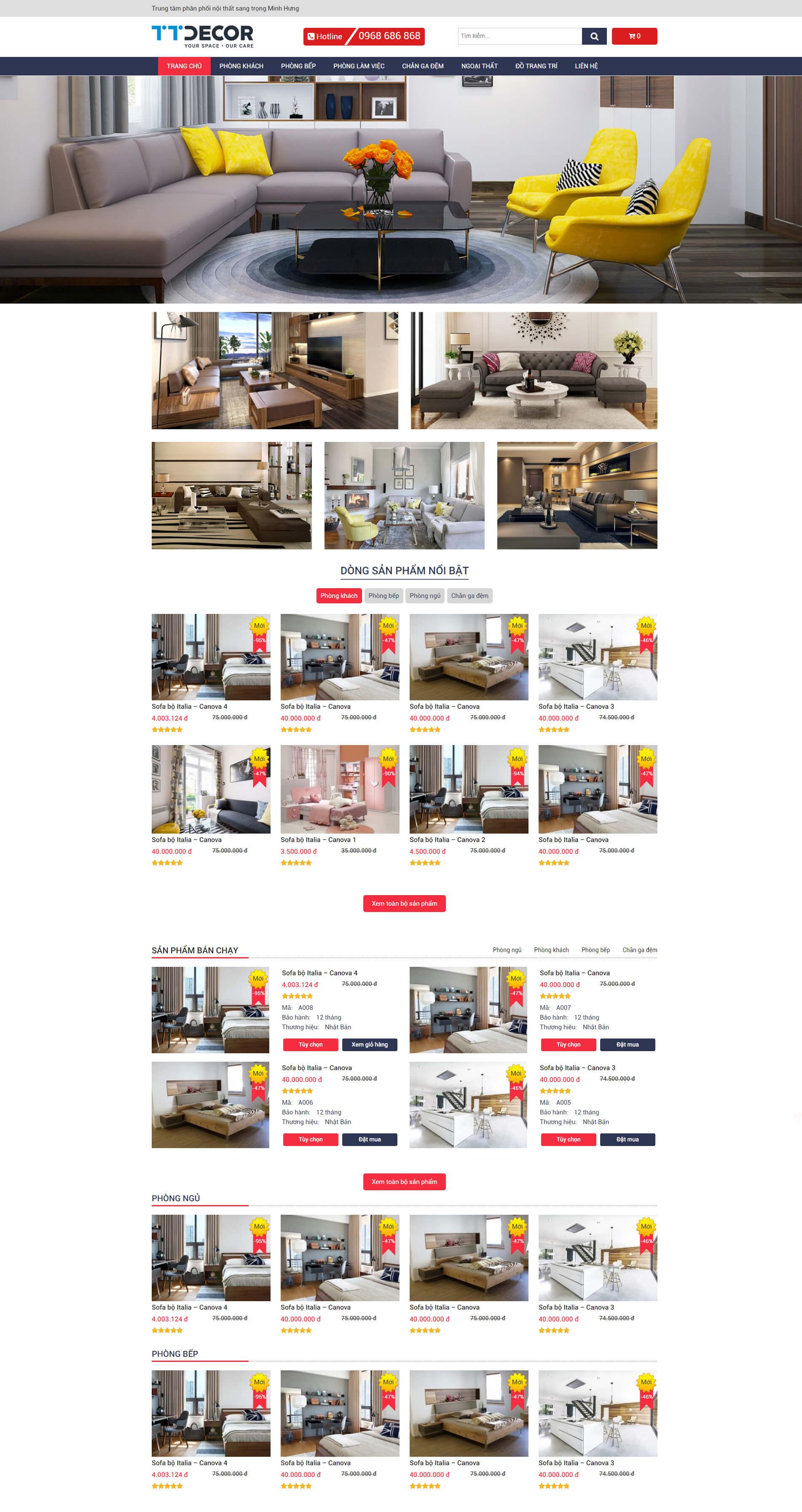 Web bán hàng nội thất 02