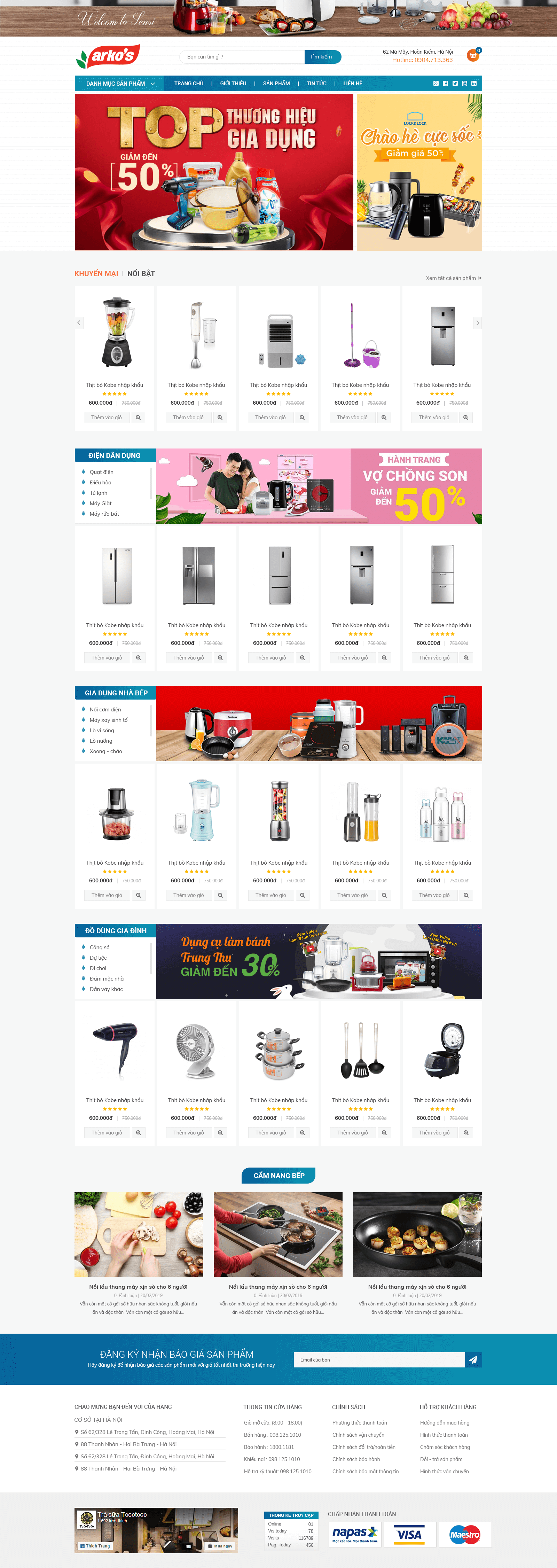Website gia dụng 2