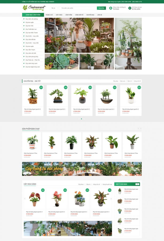 Website Cây xanh3