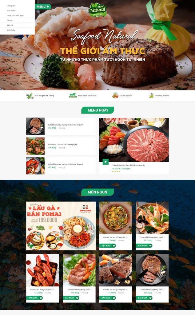 Website Ẩm thực1 RT