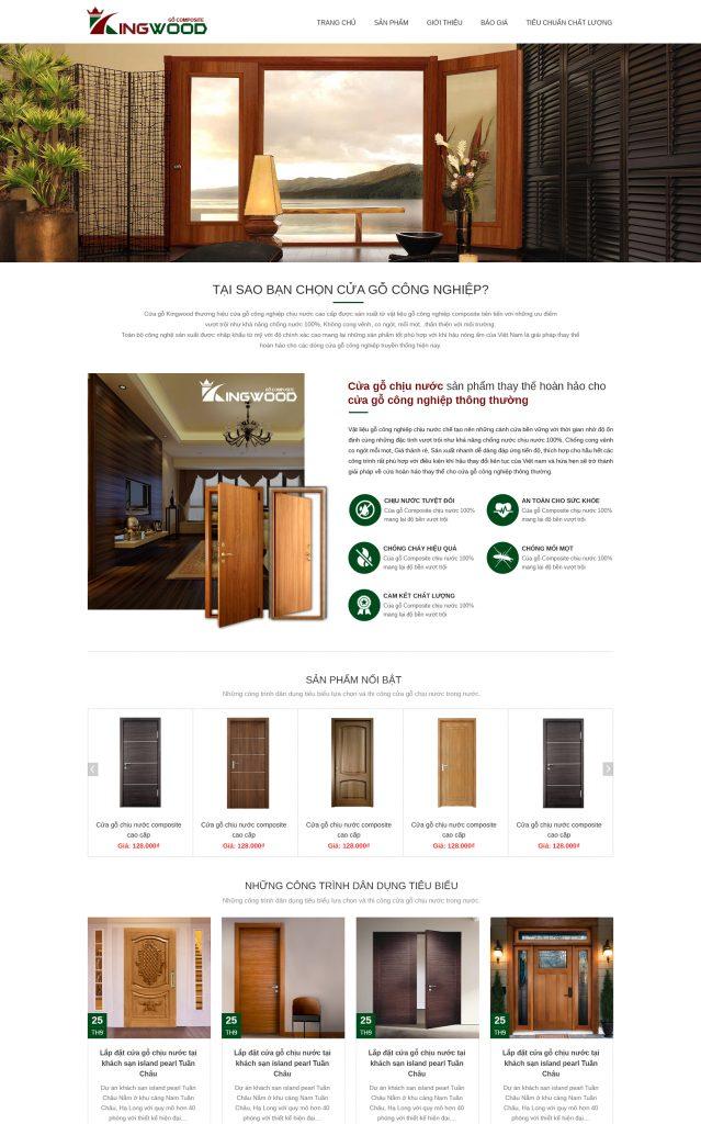 Website Cửa gỗ công nghiệp RT