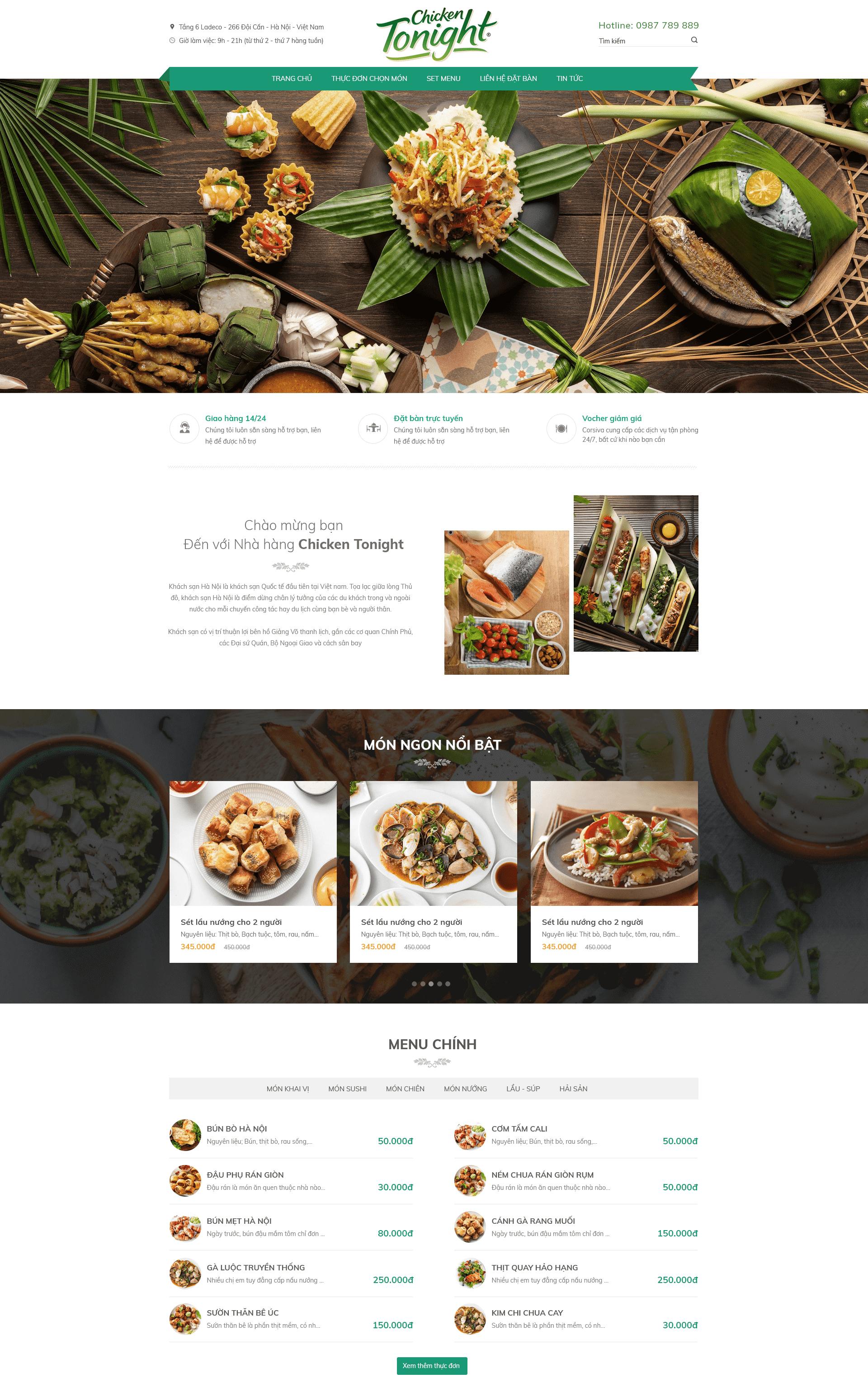 Website Nhà hàng RT