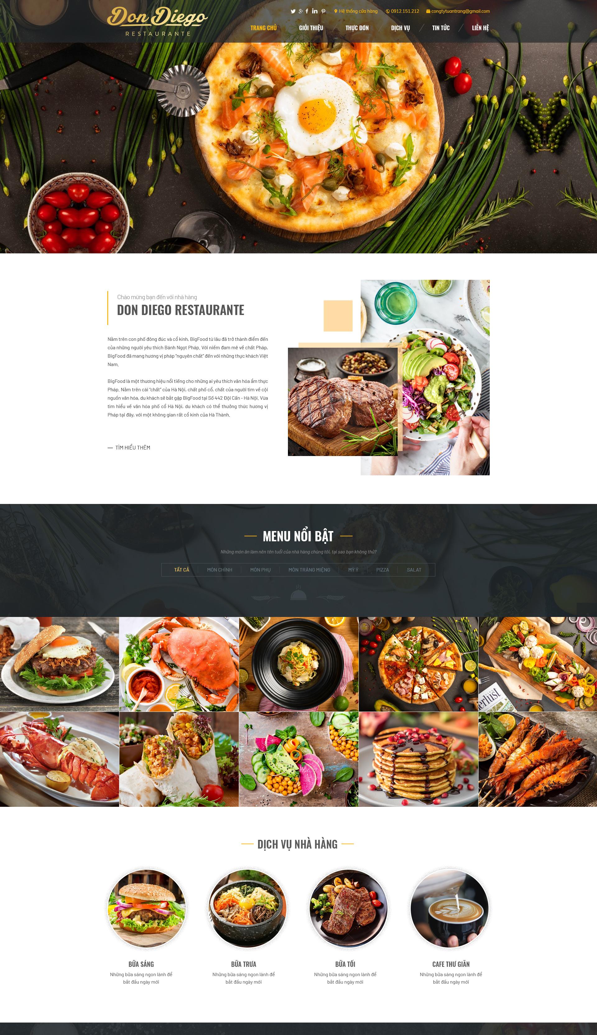Website Nhà hàng2 RT